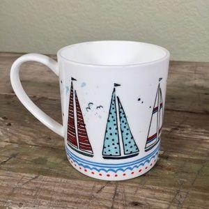 Rose of England coffee mug cup bone china sailboat